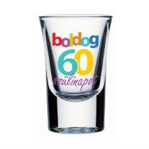 Boldog 60. Szülinapot feles pohár