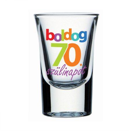 Boldog 70. Szülinapot feles pohár