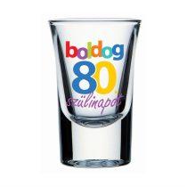 Boldog 80. Szülinapot feles pohár