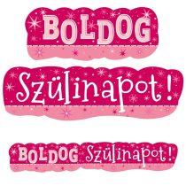Rózsaszín Boldog Szülinapot banner