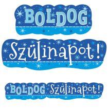 Kék Boldog Szülinapot banner