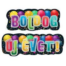 Boldog Új Évet! feliratú banner