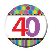 40-es szülinapi kitűző