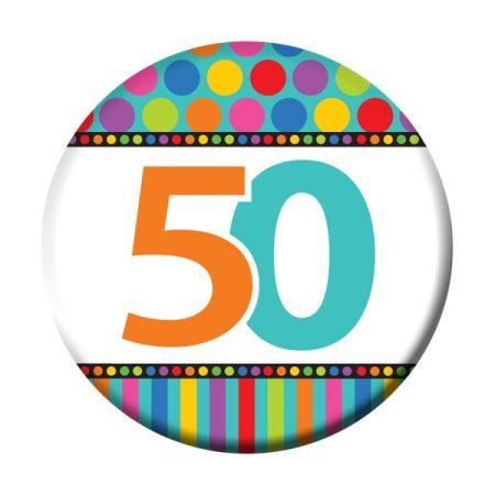50-es szülinapi kitűző