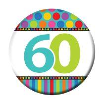 60-as szülinapi kitűző
