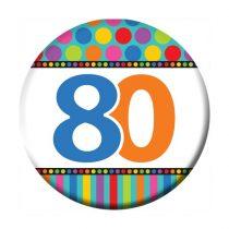 80-as szülinapi kitűző