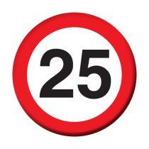 Sebességkorlátozó 25-ös kitűző
