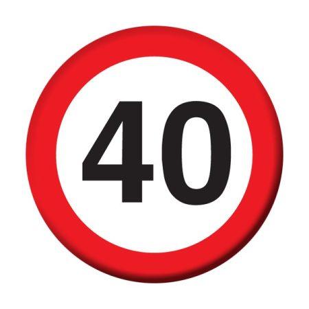 Sebességkorlátozó 40-es kitűző