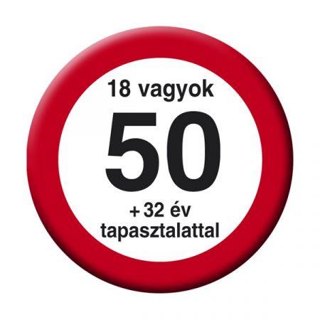 Nem vagyok 50... sebességkorlátozó kitűző
