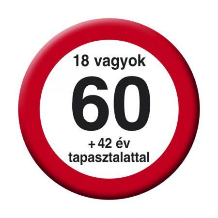 Nem vagyok 60... sebességkorlátozó kitűző