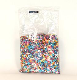 Színes papír konfetti, 30 gr