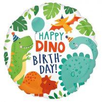 46 cm-es Happy Dino Birthday! fólia lufi