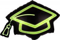 78 cm-es Neon Diploma kalap Super Shape fólia lufi