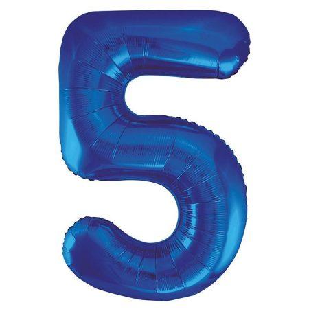 86 cm-es 5-ös kék szám fólia lufi