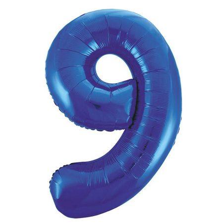 86 cm-es 9-es kék szám fólia lufi