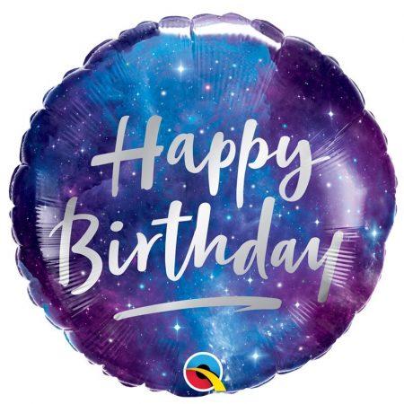 46 cm-es Galaxis Happy Birthday! fólia lufi