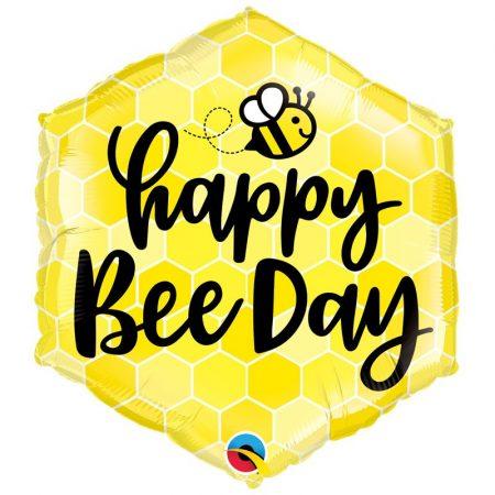 51 cm-es Happy Bee Day méhecskés fólia lufi