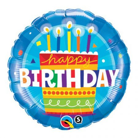 46 cm-es tortás Happy Birthday fólia lufi