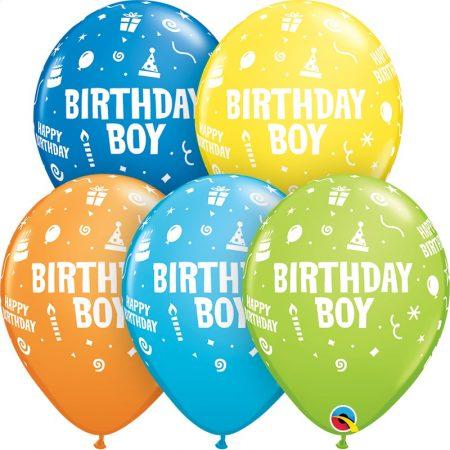 28 cm-es Birthday Boy lufi, 6 db/csomag