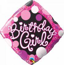 46 cm-es Birthday Girl fólia lufi