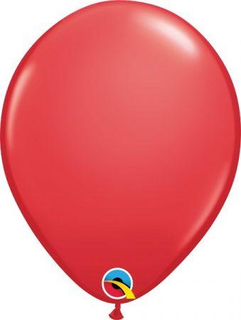 28 cm-es piros gumi lufi, 25 db/csomag