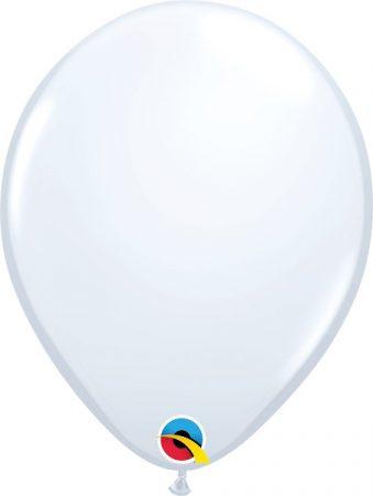 28 cm -es fehér gumi lufi, 25 db/csomag
