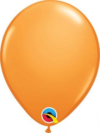 28 cm-es narancssárga gumi lufi, 6 db/csomag