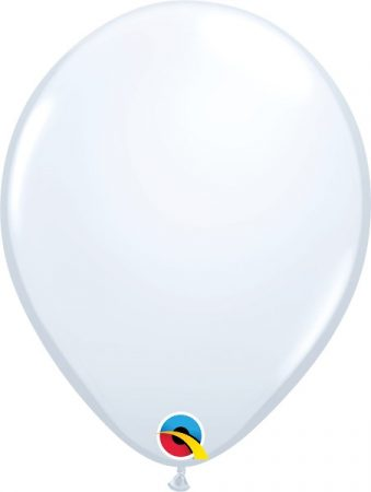 28 cm-es fehér gumi lufi, 6 db/csomag