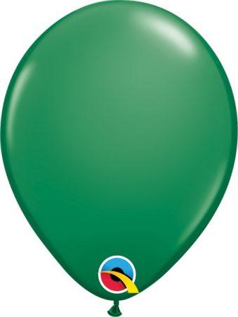 28 cm-es sötétzöld gumi lufi, 100 db/csomag