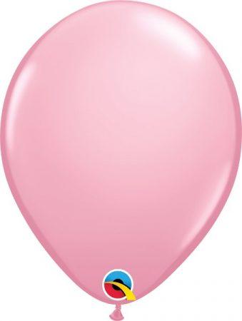 28 cm-es rózsaszín gumi lufi, 100 db/csomag