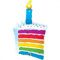 107 cm-es színes torta szelet Super Shape fólia lufi