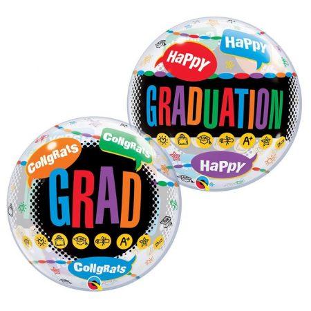 56 cm-es Happy Graduation Congrats Grad Bubble lufi