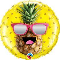 46 cm-es napszemcsis ananász fólia lufi