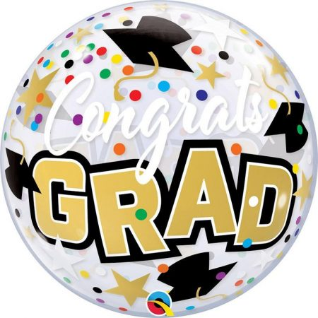 56 cm-es Congrats Grad feliratú Bubble lufi