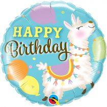 46 cm-es lámás Happy Birthday! fólia lufi
