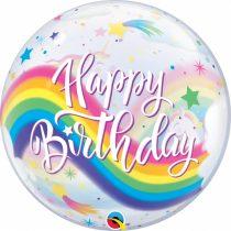 56 cm-es Unicornis Happy Birthday Bubble lufi