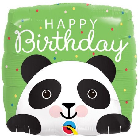 46 cm-es panda Happy Birthday fólia lufi