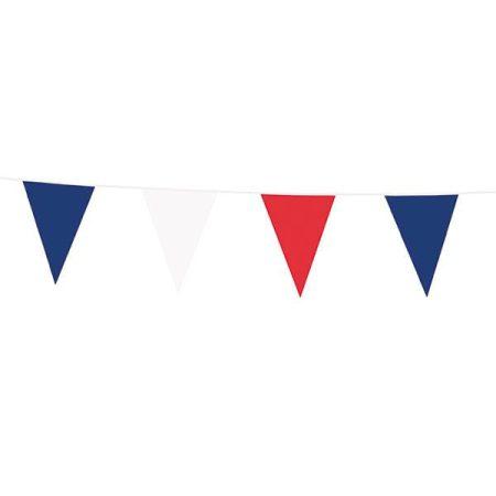Kék-fehér-piros zászlófüzér, 10 méter