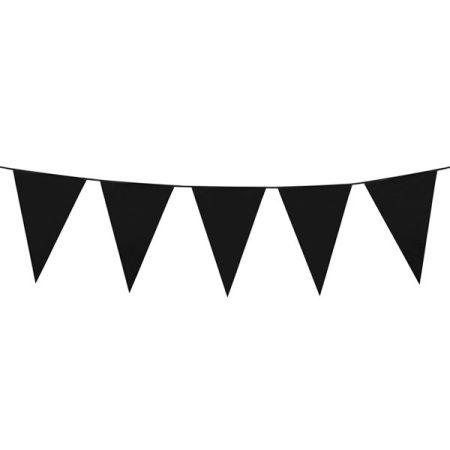 Fekete színű zászlófüzér, 10 méter