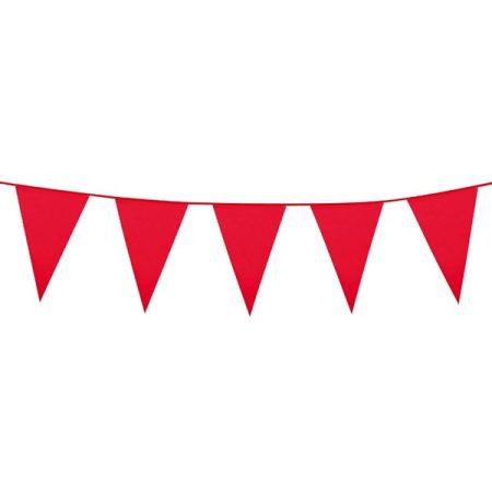Piros színű zászlófüzér, 10 méter