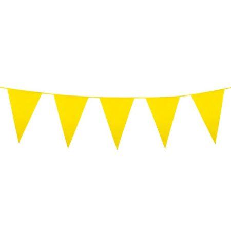 Sárga színű zászlófüzér, 10 méter