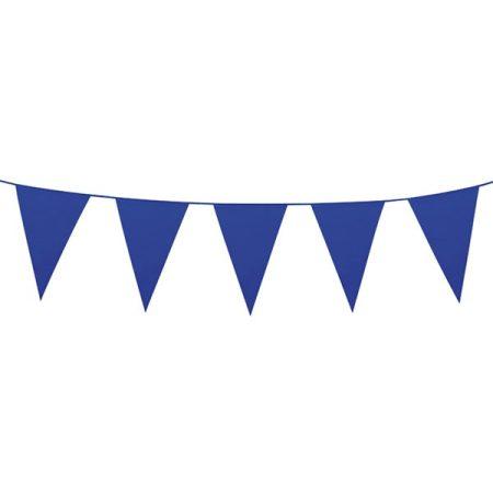 Sötétkék színű zászlófüzér, 10 méter