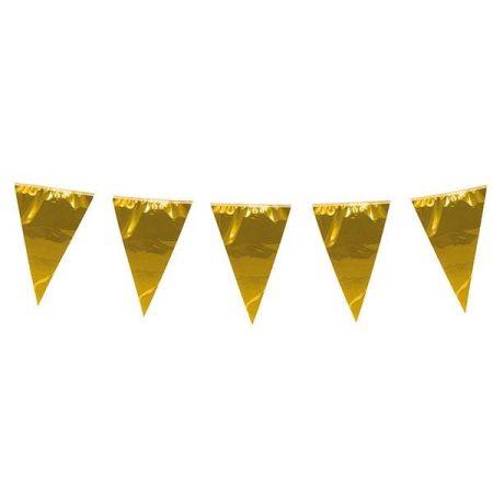 Arany színű zászlófüzér, 10 méter